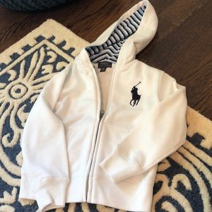 Polo boys size 4t hooded sweatshirt excellent cond